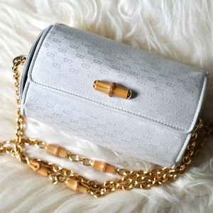 Gucci Vintage Round Bamboo Chain Shoulder Bag